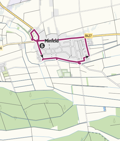 Karte / Minfeld - Skulpturen-Rundweg