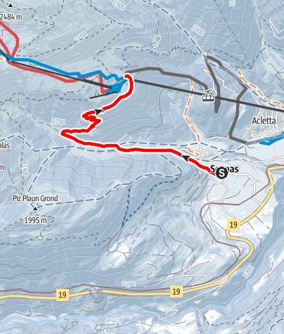 Map / Segnas - Caischavedra