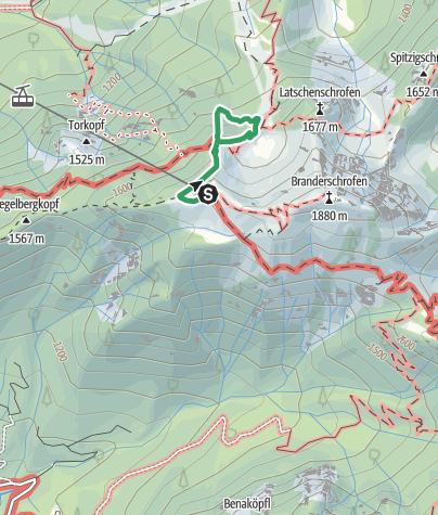 Karte / Fingersteig Klettersteig Tegelberg Schwangau  ( C/D )