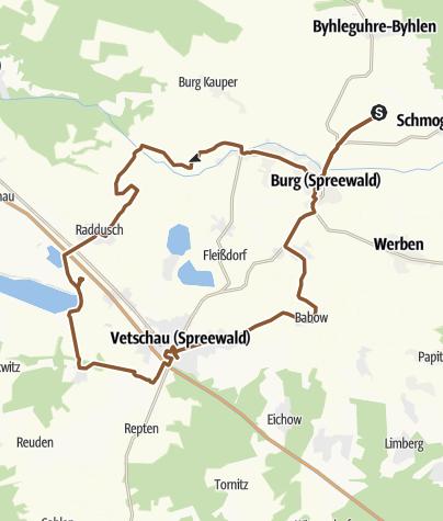 Map / Burg - Raddusch - Runde Spreewald