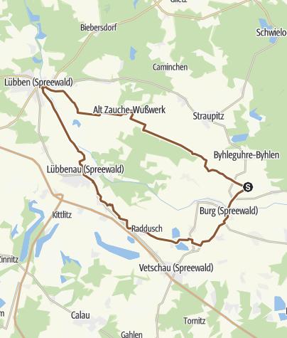 Map / Lübben - Lübbenau - Burg - Spreewald