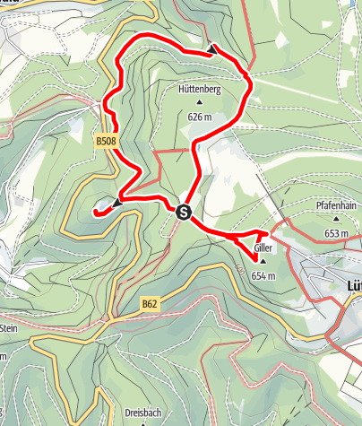 Karte / Ginsberger Heide - Naturerlebnisweg südöstlich von Hilchenbach