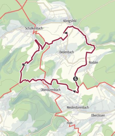 Karte / Vinxtbachtal - Rundwanderung (Niederdürenbach)