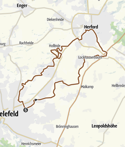 Map / M/CH Nr.16) Bi/Herford/ 40 km flach