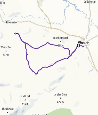 Map / Wooler HM on GPSies.com