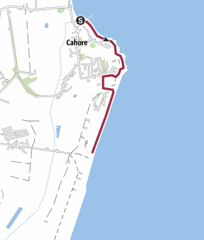 Mappa / Cahore Point - Irlanda