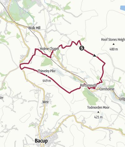 Map / WWWHOL Holmechapel geocaches.