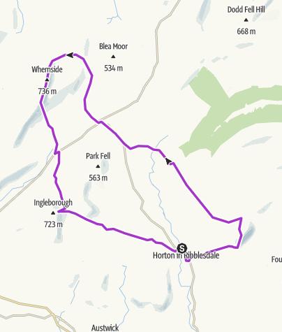 Map / Yorkshire 3 Peaks
