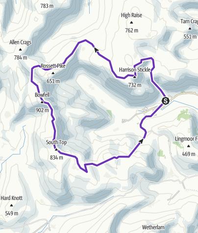 Map / Langdale Horseshoe