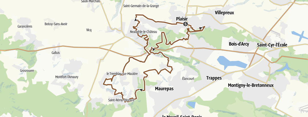 地图 / Plaisir-faut pas molir-50km