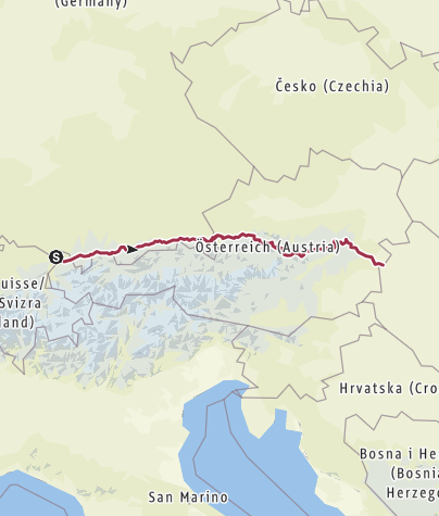 Map / E4 Germany Austria