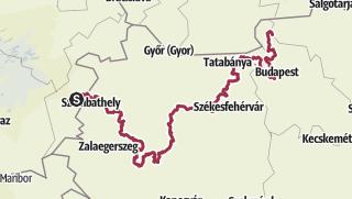 Map / The E4 through Hungary