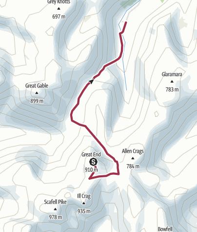 Map / Great End to Seathwaite