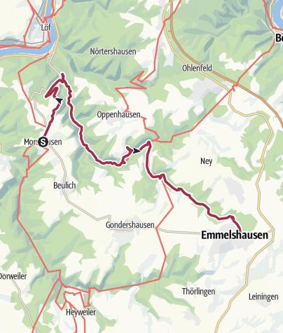 Karte / Emmelshausen - Saar-Hunsrück-Steig - Morshausen