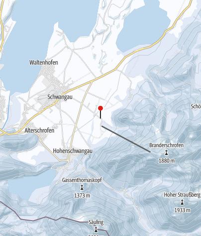Karte / Falkenlift Tegelberg Schwangau
