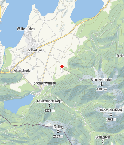 Karte / Reithlift Tegelberg Schwangau