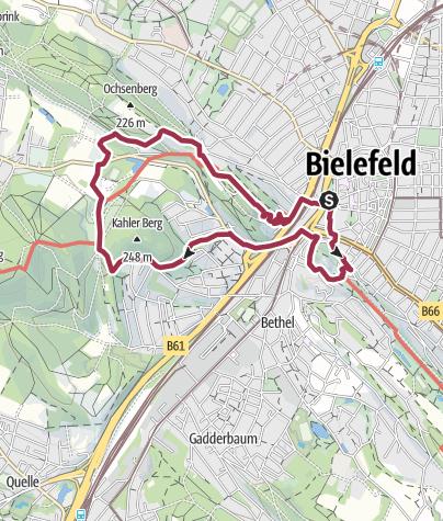 Karte / Hermannshöhen Tourentipp 09: A8 - Von Burg zu Berg - StadtParkLandschaft Bielefeld