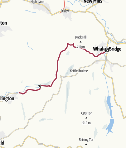 Map / Whaley Bridge to Bollington 25th Mar 2015