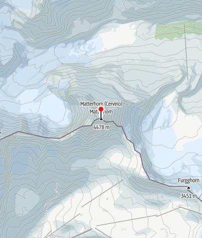 Carte / La première ascension du Mont Cervin