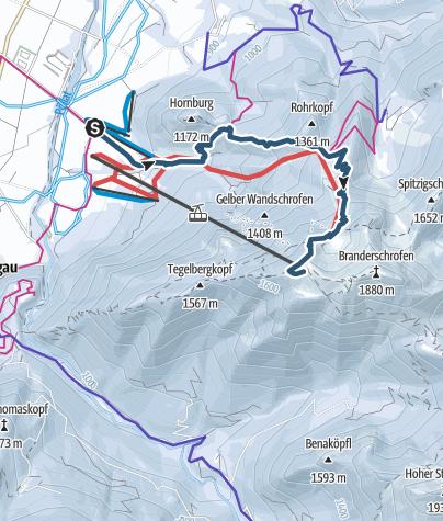 Karte / Skitour Tegelberg Schwangau