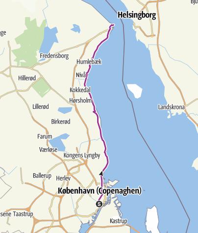 Mappa / Copenaghen to Helsingor