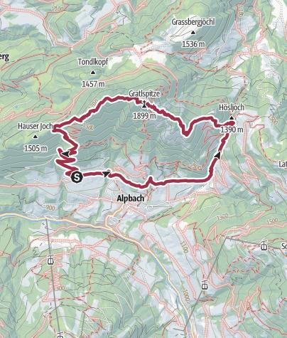 Map / Gratlspitze, Alpbach