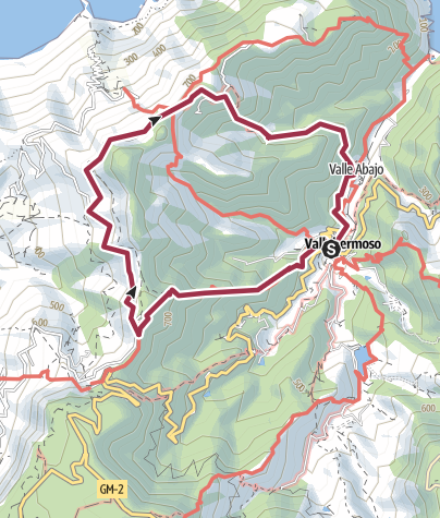 Map / Day 4: Vallerhermoso Circular Walk Option B
