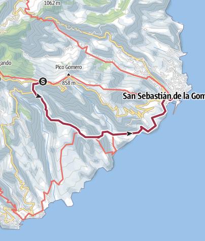 Map / Day 7 - Degollada de Peraza to San Sebastian