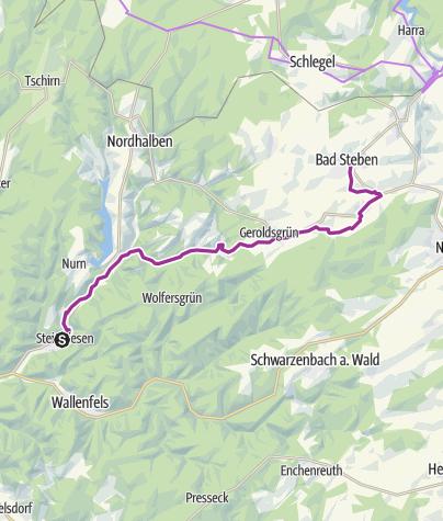 Karte / Frankenwald-Radltour – Etappe 5