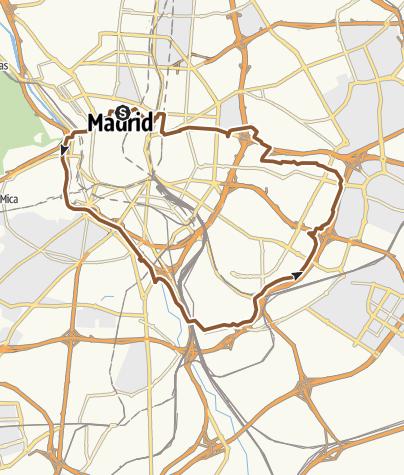 Map / Carril Bici Madrid Familiar 03/07/2014