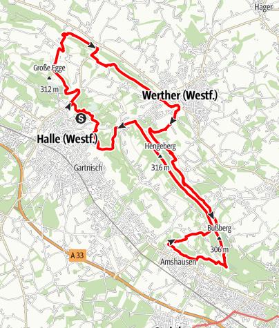 Karte / Hermannshöhen Tourentipp 08: Weg für Genießer - Ostschleife