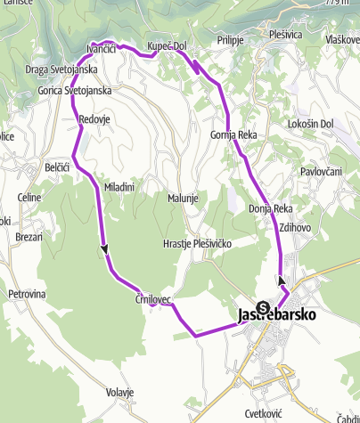Map / Staza. Jaskanski polumaraton