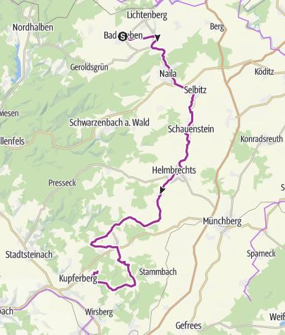 Karte / Frankenwald-Radltour – Etappe 6