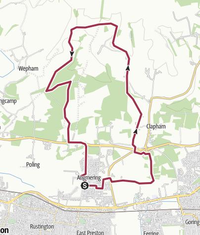 Map / Angmering Park via Lee Farm 7 Oct 2012 08:39