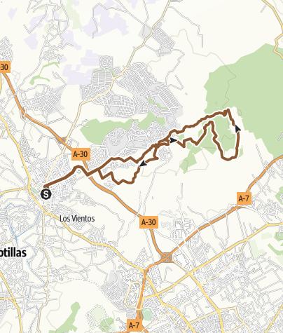 Map / 25 km Molina-Coto-Molina