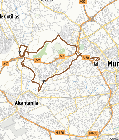 Map / 25km Murcia.