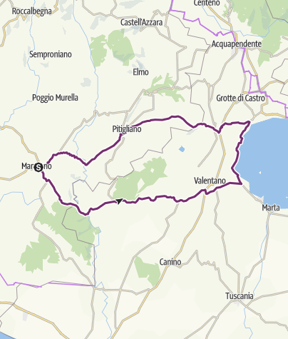 Cartina / Da Manciano a Bolsena: percorso corto