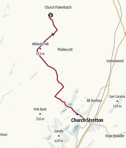 Map / Pulverbatch to Church Stretton