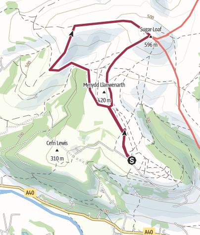 Map / Sugarloaf circle