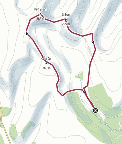 Map / Brecon Beacons Horseshoe