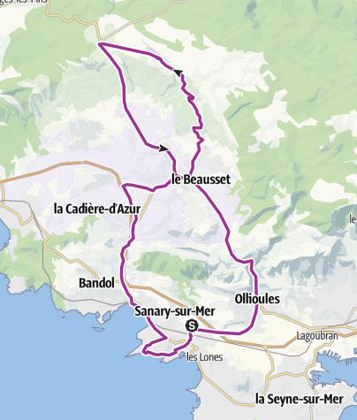 Map / Entrain. 50km par le circuit du Castellet