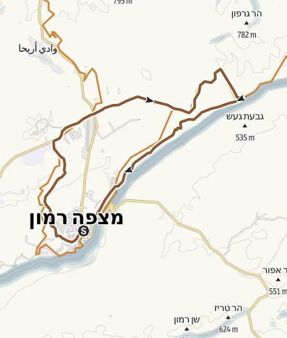 Map / מצפה רמון יום ראשון