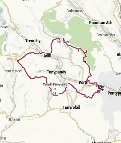 Map / Rhondda Rollercoaster 2013