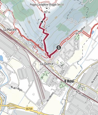 Mapa / Itinerario Poggio Castiglioni