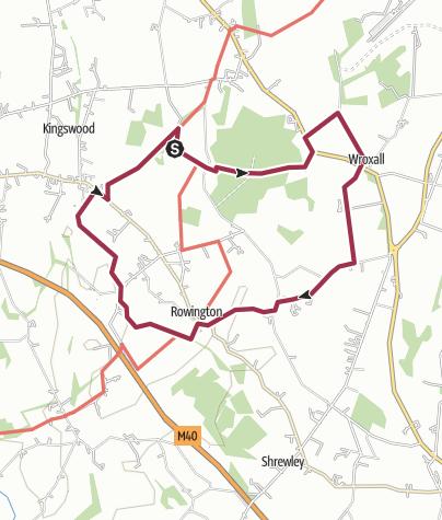 Map / Baddesley Clinton - Rowington 12km