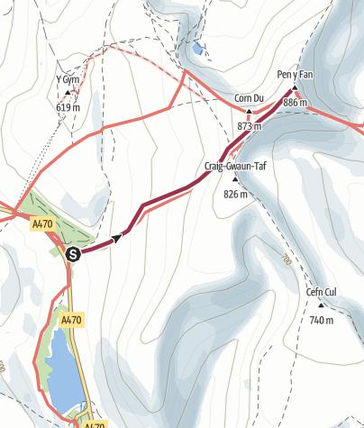 Map / Pen Y Fan - Short Route
