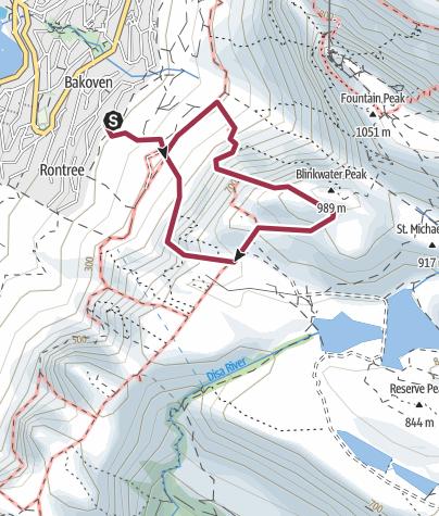 Map / Porcupine Buttress - Kasteelpoort