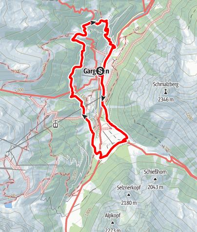 Karte / Großer Dorf-Rundwanderweg (Geologischer Wanderweg)