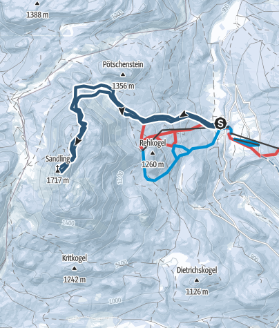 Karte / Sandling (1717m), der Salzberg im Herzen Österreichs