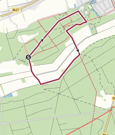 Karte / Kandel - Rundweg 2 um das Naturfreundehaus Bienwald